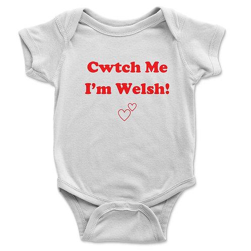 Cwtch Me I'm Welsh Baby Vest