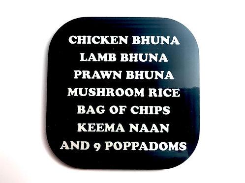 Chicken Bhuna Coaster