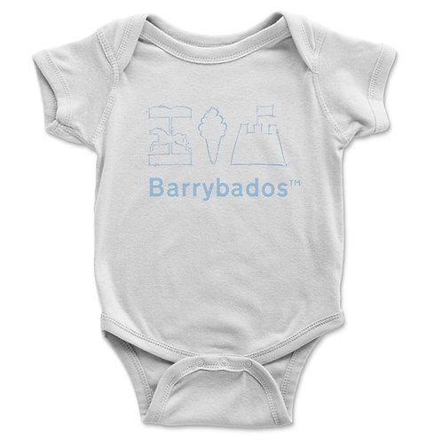 Barrybados Blue Baby Vest