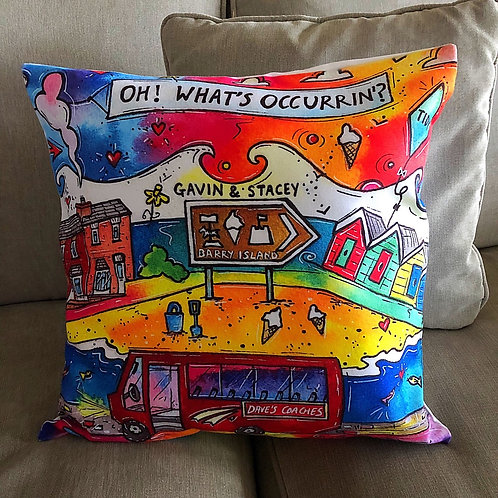 Rhiannon Art - Gavin & Stacey Cushion Cover