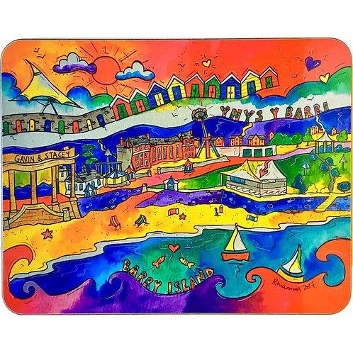 Rhiannon Art Beautiful Beach Cork Coaster