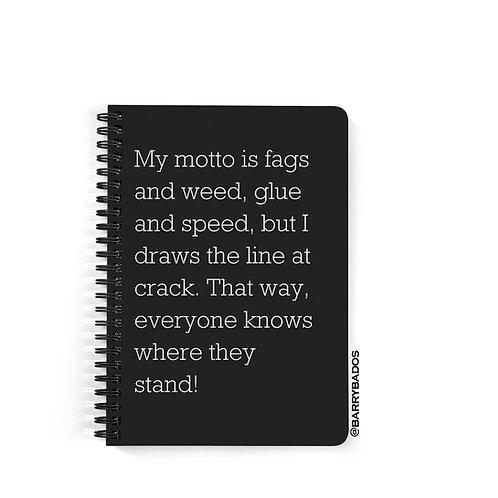 Dave Coaches Motto Notebook