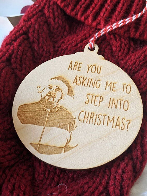 Step Into Christmas Wooden Bauble