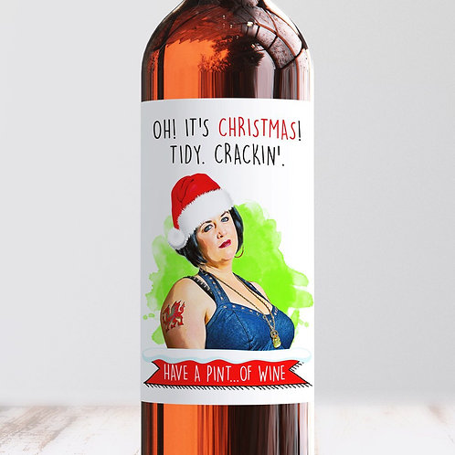 Tidy, Crackin' Christmas Wine Label