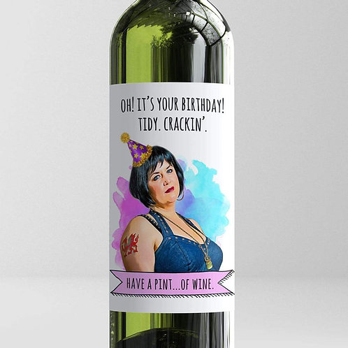 Tidy, Crackin' Birthday Wine Label