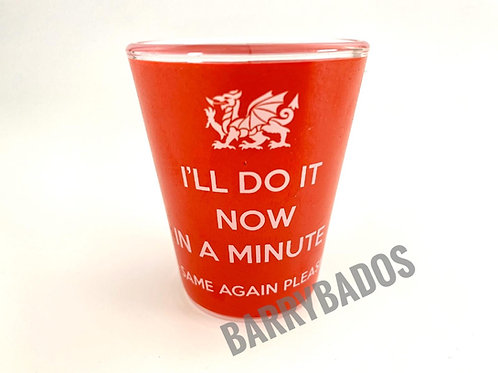 I'll Do It Now, In a Minute Shot Glass