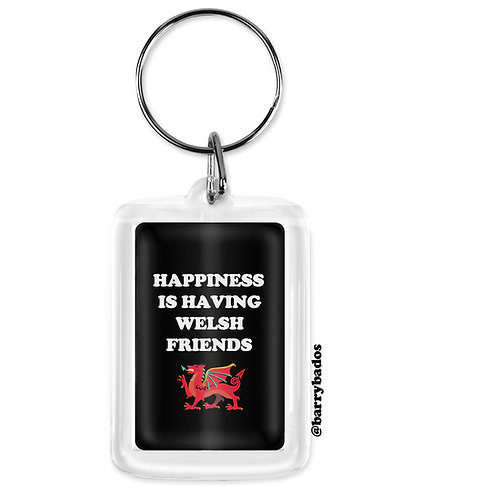 Happiness is Having Welsh Friends Keyring