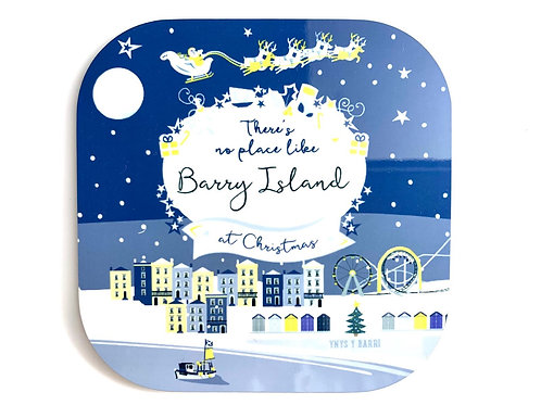 Barry Island Christmas Coaster