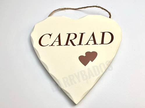 Cariad Large Hanging Sign