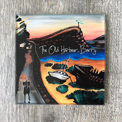 Jenny Lambert Old Harbour Glass Coaster