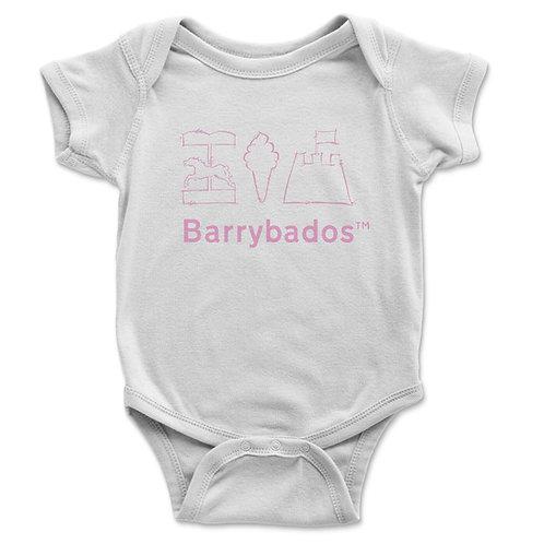 Barrybados Pink Baby Vest