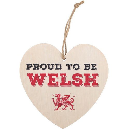 Proud To Be Welsh Heart Sign