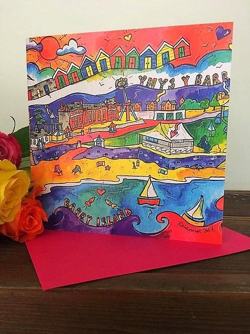 Rhiannon Art - Ynys Y Barri Card