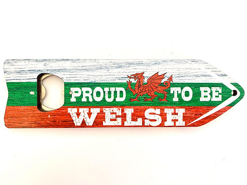 Proud To Be Welsh Magnetic Bottle Opener
