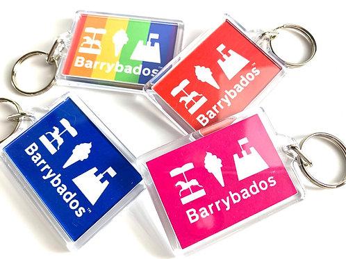 Barrybados Colour Keyrings