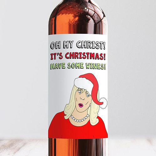 Christmas Wines - Wine Label