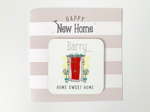 Happy New Home Coaster Card