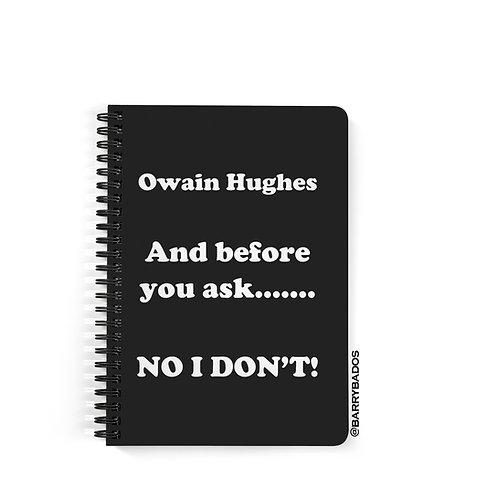 Owain Hughes Notebook