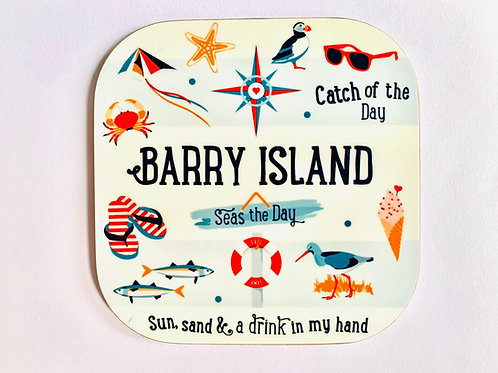 Barry Island Cork Coaster