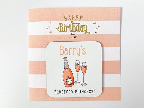 Barry's Prosecco Princess - Coaster Card