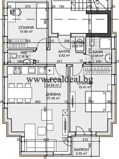 Тристаен апартамент (102м2) за продажба в Манастирски ливади - RD-1760
