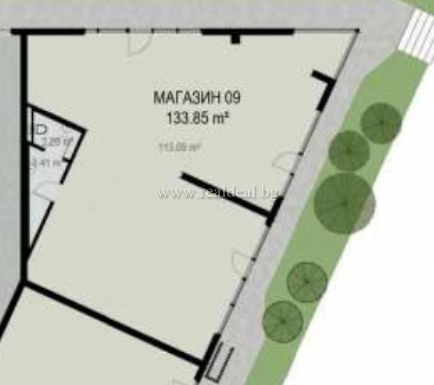 Магазин (155м2) за продажба в жилищна сграда в Дружба 2 - RD-1610