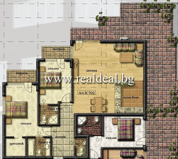 Тристаен апартамент (134м2) за продажба в Манастирски ливади - RD-1658