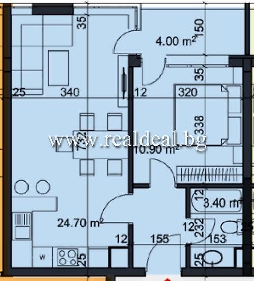 Двустаен апартамент (63м2) за продажба в Студентски град - RD-1960
