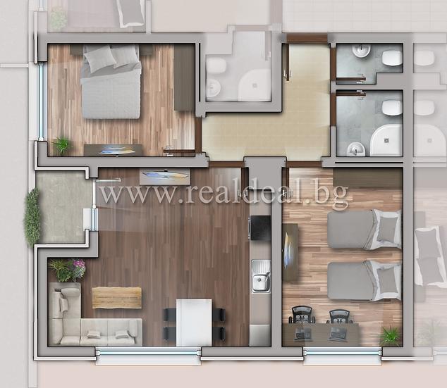 Тристаен апартамент (101м2) за продажба в Люлин 10 - RD-1727