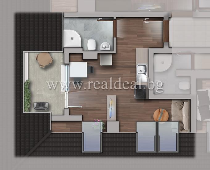 Едностаен апартамент (52м2) за продажба в Люлин 10 - RD-1726