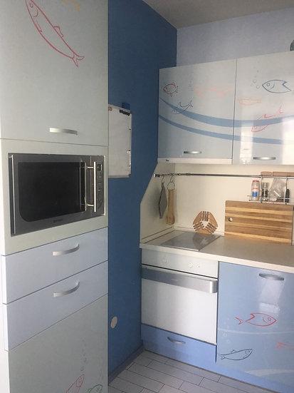 Двустаен обзаведен апартамент в Център, Зона Б-18, 55m2