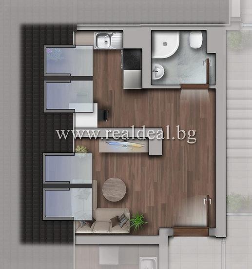 Еднастаен апартамент (38м2) за продажба в Люлин 10 - RD-1786