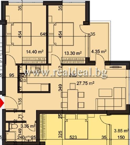 Тристаен апартамент (96м2) за продажба в Студентски град - RD-1961