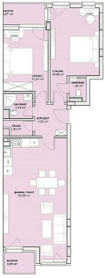 Тристаен апартамент (113м2) за продажба в ж.к. Хладилника - RD-1444