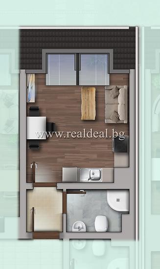 Едностаен апартамент (33м2) за продажба в Дружба 1 - RD-1920