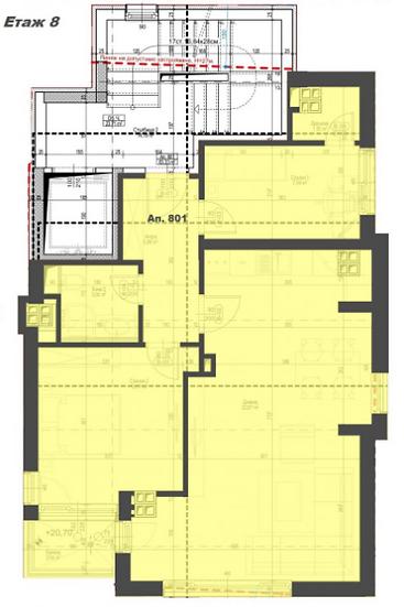 Тристаен апратамент в нова луксозна тухлена сграда, ж.к. Кръстова вада, 97m2