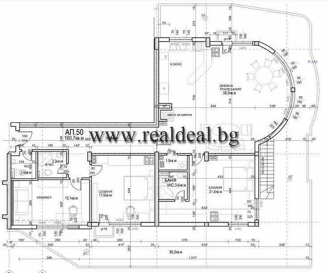 Четиристаен апартамент (187м2) за продажбав Младост 4 - RD-1955
