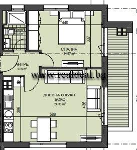 Двустаен апартамент (70м2) под наем в Манастирски ливади - RD-1879