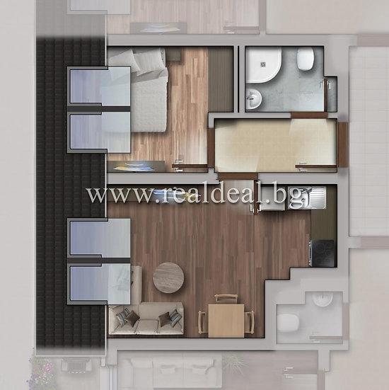 Двустаен апартамент (48м2) за продажба в Люлин 10 - RD-1788
