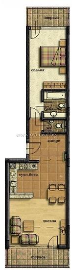 Двустаен апартамент (99м2) за продажба в Манастирски ливади - RD-1657