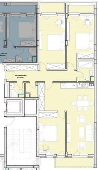 Четиристаен апартамент (151м2) за продажба в ж.к.Хладилника - RD-1022
