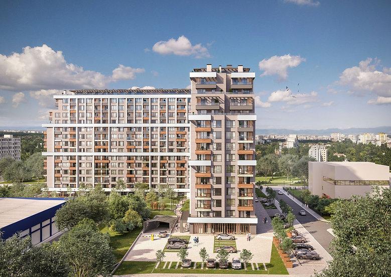 Двустаен апартамент в модерна и съвременна жилищна сграда, Център, 61m2