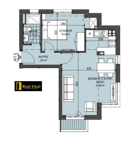 Двустаен апартамент в кв. Манастирски ливади - запад, 64m2, НОВ комплекс