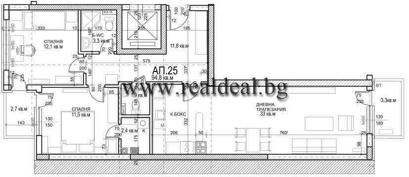 Тристаен апартамент (111м2) за продажба в Младост 4 - RD-1954