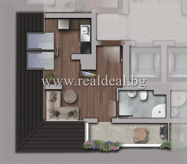 Еднстаен апартамент(44м2) за продажба в Люлин 10 - RD-1787