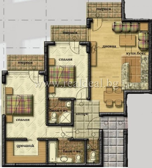 Тристаен апартамент (113м2) за продажба в Манастирски ливади - RD-1658