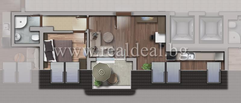Двустаен апартамент (60м2) за продажба в Люлин 10 - RD-1725
