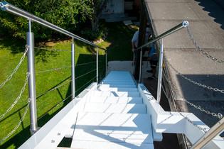 Escalier à bascule, sur-mesure