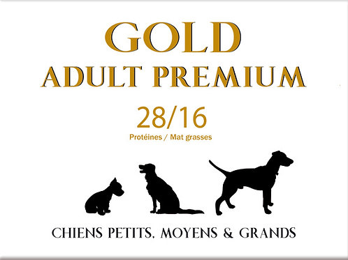 Gold Adult Premium 28/16 - sac 20 kg