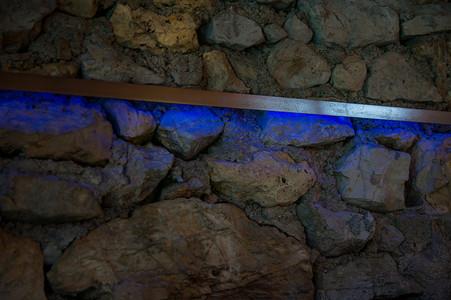 rail rétro-éclairage inox